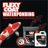 FLEXYCOAT WATERPONDING BLACK 2.5 KG SET CAT KOLAM IKAN KOI CAT AIR