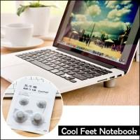 Bantalan Kaki Karet Penyanggah Laptop - Cool Feet Notebook (4 BIJI)