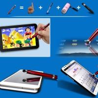 harga 4in1 Iphone Ipad Stylus Pen + Flashlight + Laser Pointer + Ballpoint Tokopedia.com