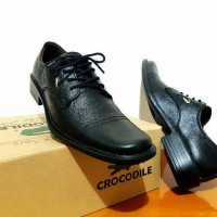 Jual sepatu pantofel crocodile kulit asli / sepatu crocodile tali low kulit Murah