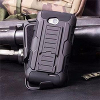 future armor LG L70 bumper case cover armor dual layer with holster
