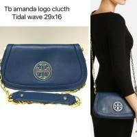 Tas Tory Burch Amanda Logo Clutch. Tas Branded Original Berkualitas