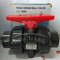 "Stop Kran / Ball Valve PVC True Union Sanking 1 1/4"""