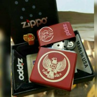 zippo/zippo custom lambang negara RI/zippo grafir/korek zippo