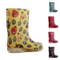 Sepatu Boots Boot Bot Karet Anak Angry Birds Bird Kids Kid Hujan Becek