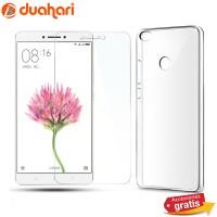 XIAOMI MI MAX Tempered Glass Casing Handphone Soft Case Transparan