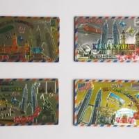 Magnet Kulkas Malaysia Kotak 4 pcs (1 Set), Souvenir Unik Malaysia