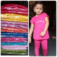 baju harian bayi / anak setelan kaos dan legging