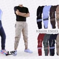 Jual Celana Panjang Unisex Jogger Stripe 3R Pants Joger Pria Wanita Sport Murah