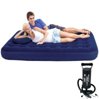 Bestway Flocked Air Bed Double Kasur Ranjang Angin + Pompa Angin 12""