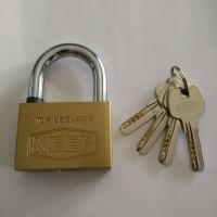 Gembok Rumah/Toko Keep Kuningan 60mm (Computer Key)