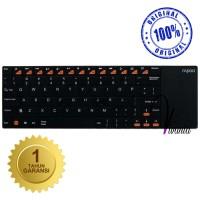 """Rapoo Keyboard E2700 Wireless Multi-media Touchpad, Hitam Original"""