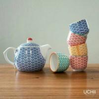 UCHII Ceramic Tea Pot set - Wave Pattern / Teko Teh & Cangkir Keramik