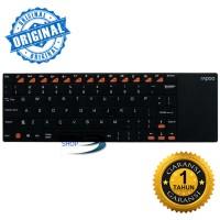 Rapoo Keyboard E2700 Wireless Multi-media Touchpad, Hitam Original