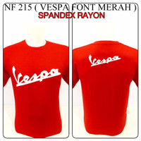kaos spandex merah vespa font reggae rasta baju distro shirt spandek