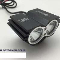 OWL Mini Lampu Sorot Tembak Led Cree Ultrafire 2 Mata Burung Hantu