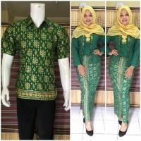 harga Couple Batik | Baju Couple | Sarimbit Batik Muslim Bsg575 Hijau Tokopedia.com