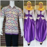 harga Couple Batik | Baju Couple | Sarimbit Batik Muslim Bsg577 Ungu Tokopedia.com