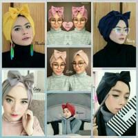 Jual bow turban/turban instan/turban pita Murah