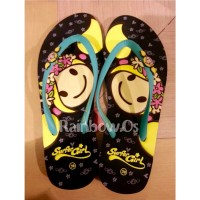 Sandal Surfer Girl FlowerCrown Black
