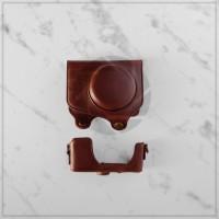 CANON G7X Mark ii Leather Camera Bag (Case/Tas Kamera) Chestnut Brown