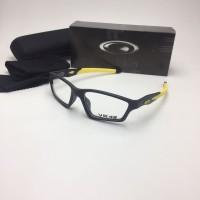 Frame Kacamata Minus Oakley Crosslink Pria VR46 Hitam Kuning Fullset S