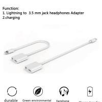 2 In 1 Lightning To 3.5mm Audio Jack + Lightning Charge Murah