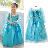 EXCLUSIVE Dress Elsa Frozen Wing Disney Baju Pesta Gaun Anak Perempuan