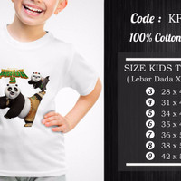 Jual Kaos Anak Kungfu Panda - KFP-005 Murah