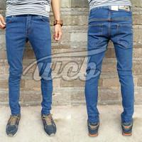 Jual Celana Jeans Skinny Cheapmonday Biowash - Jeans Pensil Melar Biru Tua Murah