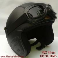 Helm Vintage Kacamata Original cowo vespa cb c70 matic modifikasi
