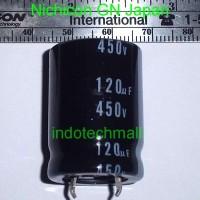 High Voltage Capacitor Elko 120uF 450V Nichicon GN Japan kapasitor