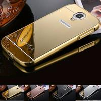 Alumunium Bumper Mirror Backdoor Slide Casing for Samsung galaxy S4