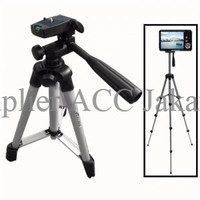 TERMURAH Weifeng Portable Tripod Stand 4-Section Aluminum Legs with Br