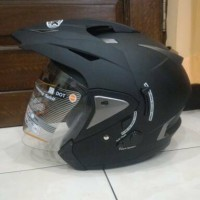 Helm INK T MAX Solid M L XL - Double Visor Double Mode Anti Theft