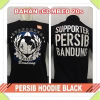 KAOS BAJU CLUB BOLA INDONESIA - PERSIB HOODIE BLACK