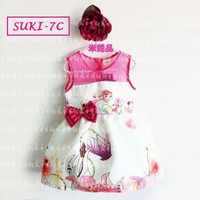 Jual Baju dress anak cewe perempuan frozen pita suki Murah