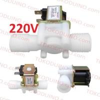 "WATER ELECTRIC SOLENOID VALVE 220V NC IN OUT 1/2"" KRAN KERAN ELEKTRIK"