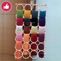 Jual Hanger Bulat / Hijab / Jilbab / Kerudung / Syal - gantungan 28 Ring Murah