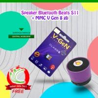 harga Speaker Bluetooth S11 + Memory Card V-gen 8 Gb Free Kabel 5 In 1 Tokopedia.com