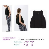 DOUBLE LAYERS BLOUSE - BLACK. Made in China - FASHIONme FO BRANDED