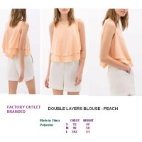 DOUBLE LAYERS BLOUSE - PEACH. Made in China - FASHIONme FO BRANDED