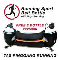 Sports Running Belt / Tas Pinggang Botol Lari With 2 Bottle - Ze-hbw