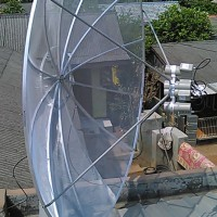Pemasangan Penangkal Petir dan Parabola di Cilincing, jakarta utara
