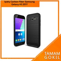 Case Ipaky Carbon Fiber Samsung Galaxy A3 2017 Soft Series