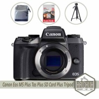 Canon EOS M5 BO Body Only Plus Tas Plus SD Card Plus Tripod (Paketan)