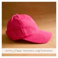 Topi Baseball Cap Pink Muda Dewasa Polos Pria Wanita Casual Sport