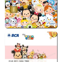 kartu bca flazz custom design disney tsum tsum