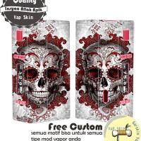 Garskin vapor Aspire NX75-A Mod motif skull2, motif bisa request