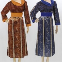 BAJU MUSLIM BATIK MODEL TERBARU MURAH LONG DRESS BATIK ELEGAN GROSIR